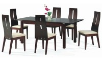 Cafe 30 Contemporary Dining Room Set in Walnut Finish