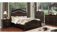 Calliope Bedroom Set in Espresso Finish