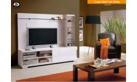 Capri Modern Italian Wall Unit in White Lacquer Finish
