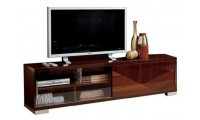 Capri Modern Italian TV Stand in Walnut  Lacquer Finish