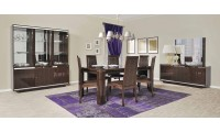 Caprice Italian Modern Lacquered 7 Piece Dining Room Set