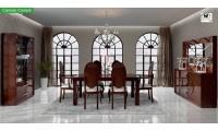 Carmen Dining Room Set in Walnut by Franco Furniture