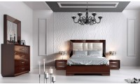 Carmen Bedroom Set in Walnut Lacquer by Franco Furniture