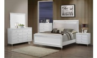 Catalina Contemporary Bedroom Set in White Finish