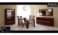 Charme Mahogany Italian Formal Dining Room Set