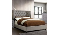 Cayla Platform Bed in Gray Fabric