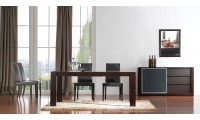 ESF Colibri Modern Dining Room Set in Dark Walnut Finish