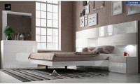 Cordoba Modern Bedroom Set in White Lacquer Finish