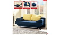 Croma Blue Modern Queen Sofa Bed Storage Sleeper