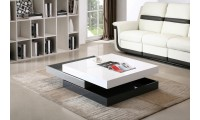 Lacquer Finish Modern Rotary Coffee Table CW01