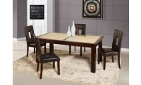 D042DT Sunset Gold Dining Set Brown Cut Out Chairs
