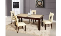 D042DT Sunset Gold Dining Set Cream Cut Out Chairs