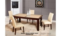 D042DT Sunset Gold Dining Room Set Cream Chairs