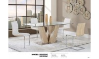 D2123DT Tempered Glass Top  Modern Dining Room Set