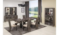 D59 Dining Room Set in Brown Lacquer Finish