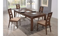 Burnt Wood Finish Modern D4930DT Large Dining Room Set
