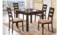 Brown Wood Expandable Table Dining Room Set D6970DT