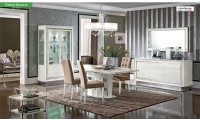 Dama Bianca White Dining Room Set Made in Italy