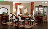 Luxor Day Italian Dining Room Set in Mahogany