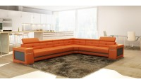 Divani Casa 5072 Modern Sectional Sofa in Orange