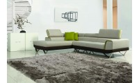 Divani Casa Amy Sectional Sofa in Modern Fabric