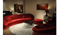 Divani Casa Cosmopolitan Sofa Set in Red Fabric