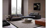 Tivoli Fabric Sectional Sofa with Shelves and Desk