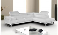 Nicoletti Domus Sectional in White, Grey or Black Leather