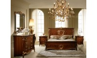 Donatello Italian Bedroom Set in Walnut Finish