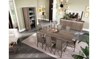 Dover Italian Dining Room Set in Brown