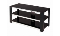 V Hold 7 Black Tempered Glass TV Stand