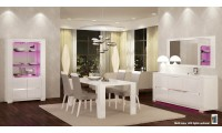 Elegance 2 Italian Dining Room Set in White Finish