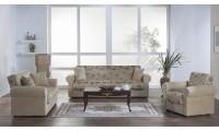 Elita Sofa Bed Living Room Set in Yasemin Beige