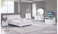 Emily Bedroom Set in White Finish by Global Furniture