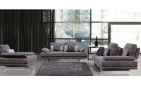 ESF 1174 Living Room Set in Fabric with Sliding Seat