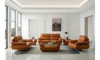 ESF 1810 Living Room Set in Orange Leather