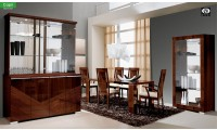 Capri Italian Dining Room Set in Brown Lacquer by ALF Group