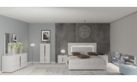 Carrara Italian Bedroom Set in White