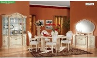 Rosella Italian Dining Room Set in Ivory Gold Finish