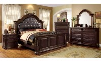 Esperia Traditional Bedroom Set in Brown Cherry