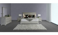 Modern Grey Matte Finish Ethan Modrest Italian Bedroom Set