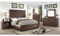 Eutropia Bedroom Set in Warm Chestnut