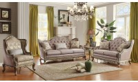 Homelegance 8412 Fiorella Silver Living Room Set