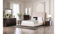 Fontes Bedroom Set with Ivory Tall Headboard Bed
