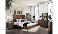 Fulton Bedroom Set in Dark Oak and Dark Walnut