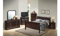 G3125A Sleigh Bedroom Set in Cappuccino Finish
