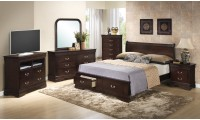 G3125D Cappuccino Bedroom Set with Storage Bed