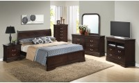 Cappuccino Finish Traditional Bedroom Set G3125E