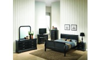 Black Finish Louis Philippe Bedroom Set G3150A
