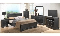 Black Solid Wood Contemporary Bedroom Set G3150E